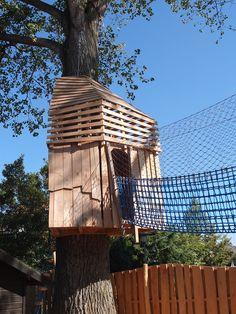 Baumhaus mit Seilbrücke Plants, Image, Tree Houses, Kids, Plant, Planets