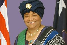 Ellen Johnson Sirleaf, is the current prime minister of Liberia and the first ever female head of state in Africa. Lady power!