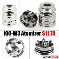 IGO-W3 RDA Dripping Atomizer - $11.74 USA - http://vapingcheap.com/igo-w3-rebuildable-dripping-atomizer-12-99/