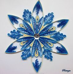 ©Pinterzsu- Quilled Snowflakes (Searched by Châu Khang)
