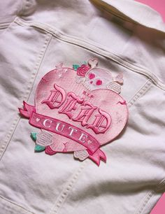 Team Dead Cute, here to kill anything lame and transform it to utter kawaii-n. Cute Patches, Pin And Patches, Iron On Patches, Jacket Patches, Diy Patches, Back Patch, Cute Jackets, Embroidery Patches, Creepy Cute