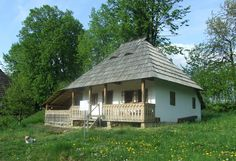 """Traditional houses in rural Romania (case traditionale romanesti) *** Upon arriving in her new home country in the young wife of Prince Carl of Romania noticed in her writings: """"Every R… Romania People, Rural House, Wooden Gates, Vernacular Architecture, Village Houses, Cozy Cottage, Design Case, Traditional House, New Homes"""