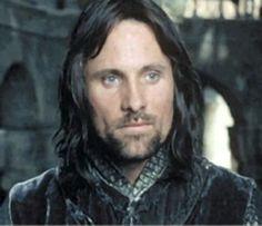 viggo mortensen long hair | lotr, aragorn, viggo mortensen, brunette, long hair, blue eyes, beard ...