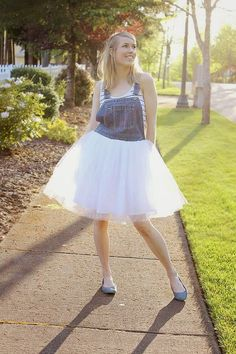 DIY Tulle Overalls | DIY Overalls On The Cheap | Fashion Projects