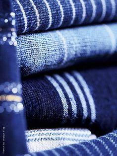 blue fabric...