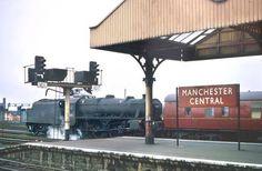 Manchester Manchester Central, Disused Stations, Steam Railway, British Rail, Old Trains, Salford, Central Station, Steam Engine, Steam Locomotive