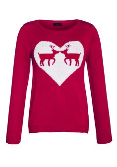 Reindeer heart jumper (Florence & Fred).