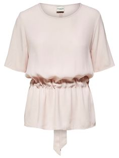 DRAPED - SHORT SLEEVED TOP, Sepia Rose, large