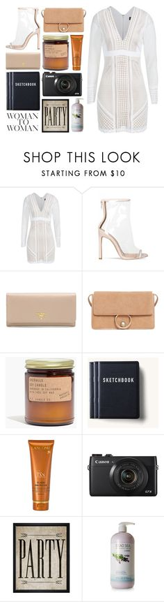 """""""4.721"""" by katrina-yeow ❤ liked on Polyvore featuring Prada, MANGO, Madewell, Tanner Goods, Lancôme, Hatcher & Ethan and Ahava"""