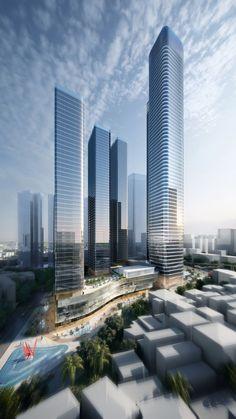 Shenzhen Centralcon Shang Sha Project   Aedas   Architecture   Mixed-use   Shenzhen, PRC