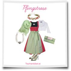 Pfingstrose Dirndl-Style by trachtenbibel on Polyvore featuring Mode and MICHALSKY
