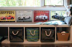 retro car themed nursery.
