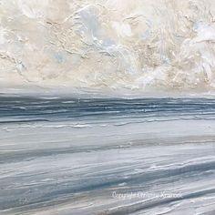 ORIGINAL Art Abstract Blue White Painting Textured Canvas Coastal Blue Grey Beige LARGE Wall Art Decor - Christine Krainock Art - Contemporary Art by Christine - 5