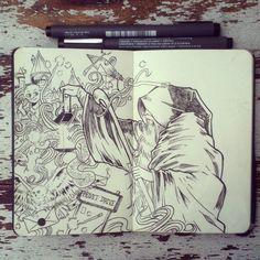 #23 The Hermit by 365-DaysOfDoodles.deviantart.com on @deviantART
