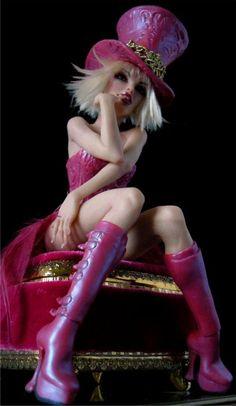 Fuchsia Pop Diva - Nicole West Fantasy Art