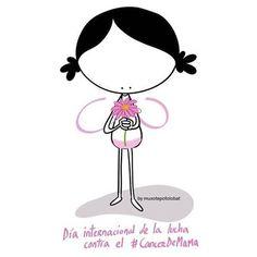 Para tí, luchadora. Voy contigo... Vamos juntas. #EeeegunonMundo!! ::: Día internacional de la lucha contra el #CancerDeMama