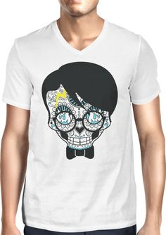 Sugar Skull Harry - Dhaporshankh Guys V-Neck