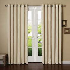 Best Home Fashion, Inc. Extra Wide Width Thermal Insulated Grommet Top Blackout Curtain Panel & Reviews | Wayfair
