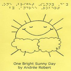 One Bright Sunny Day - Short Story Book - Braille-Tactile Books - MaxiAids #blind #braille #books