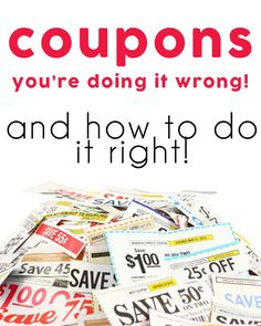 Couponing - You're doing it wrong » One Beautiful Home