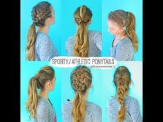 Easy Cute Volleyball Hairstyles Women - 6 quick and easy sporty/athletic/workout hairstyles Cute Sporty Hairstyles, Cute Volleyball Hairstyles, Cute Ponytail Hairstyles, Athletic Hairstyles, Cute Ponytails, Workout Hairstyles, Easy Hairstyles, Sport Hairstyles, Volleyball Braids