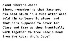 Mortal Instruments Funny, Immortal Instruments, Shadowhunters The Mortal Instruments, Clary And Jace, Clary Fray, Shadowhunters Series, Cassie Clare, Cassandra Clare Books, Quotes For Book Lovers