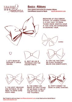 Learn Manga Basics: Ribbons by Naschi on deviantART