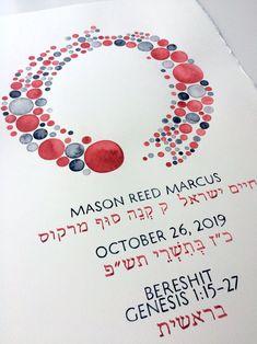 Bar mitzvah Custom Name blessing artwork - by ElenaBerlo OnceUponaPaper