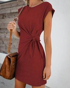 Fall Dresses, Mini Dresses, Summer Work Dresses, Mini Vestidos, Loungewear Set, Fashion Outfits, Womens Fashion, Dress For You, Daily Fashion