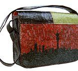 Up-cycled PLASTIC laptop or conference bag. Available from www.ilovediepsloot.co.za
