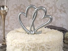 Two Hearts Beat As One Wedding Cake Topper