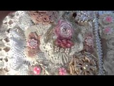 stunning fabric and lace book from Jean Wragg - YouTube