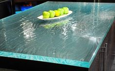 Recycled Glass Countertop #diy #kitchen #remodel