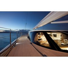 S/Y Zefira Designer: Dubois Interior: Remi Tessler Builder: Fritzroy Yachts Of course here on the Yacht collective sailing yachts are not left out of the discussion. Today's modern sailing yacht, Zefira a sloop without a flybridge has seemless lines that will continue to look contemporary long into her life. I was lucky enough to see it two years ago in Antibes. Her personality in person is pure elegance. Photographs do not do justice.