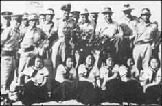 Korean comfort women during Korea War. There was a relatively seamless transition in terms of the American military replacing the Japanese military and so no one had an interest in probing into stories of the more than 100,000 Korean women who were dragooned into sexual slavery by the Japanese army. Really some of the former comfort women feeling themselves completely ruined and unable to return to their families became prostitutes for the American military after world war two.