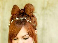 A hair bow made of HAIR!