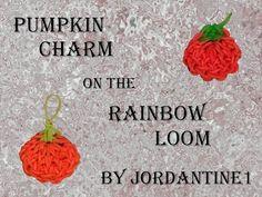New Pumpkin Charm - Halloween Fall Thanksgiving - Rainbow Loom tutorial by Rainbow Loom Tutorials, Rainbow Loom Creations, Loom Band Bracelets, Loom Bands, Free Activities For Kids, Rainbow Loom Charms, Loom Craft, Halloween Jewelry, Thanksgiving