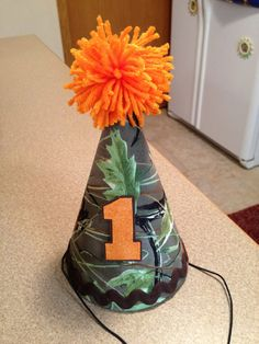 Custom Camoflauge Birthday Hat - Fall Birthday Theme -  Hunting, Military, 1st Birthday Keepsakes - Camo Hat, Bib, 1st Birthday on Etsy, $18.00