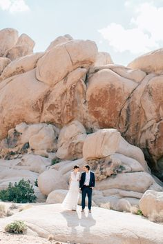 Joshua Tree National Real Wedding on WellWed.com | Photography: Mike Cassimatis