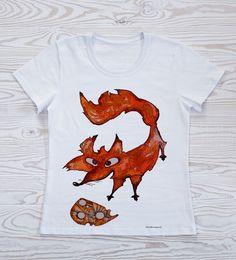 """футболки женские > футболка женская с принтом """"лисыр"""" купить в интернет-магазине."""