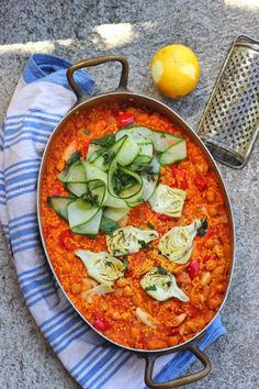 Chickpea, Artichoke and Millet Paella | happy hearted kitchen I sooo need to try this
