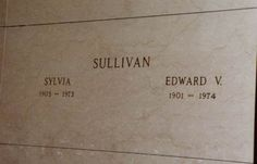 Ed Sullivan  28th September 1901 - 13th October 1974 Ferncliff Cemetery, Hartsdale, Westchester County, New York.