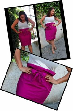 """Paper bag skirt from a pillow case: I'm not too sure about this. Maybe I will mess around with an old pillowcase to see if it works (though I'm sure I would not wear it because I'd always think """"I can't wear a pillowcase to work!"""")"""
