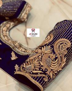 Pattu Saree Blouse Designs, Blouse Designs Silk, Designer Blouse Patterns, Bridal Blouse Designs, Peacock Embroidery Designs, Maggam Work Designs, Simple Blouse Designs, Bridal Dress Design, Embroidery Blouses