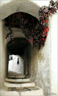 Apeiranthos village, Naxos island, Cyclades, Greece