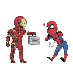 Tony Got Some Upgrades for Spider-Man!!Art By:@pencilhead7