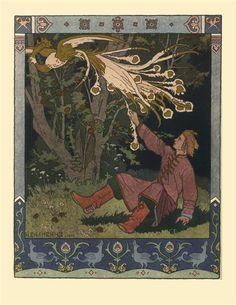 Illustration for Alexander Pushkin's 'Fairytale of the Tsar Saltan' - Bilibin Ivan - WikiArt.org