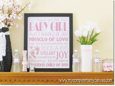 My Computer is My Canvas: {NEW} Baby Girl Subway & Shower Printables!