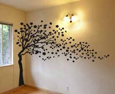 Tree Decal Wind Blowing Tree Wall by DigiflareGraphics Tree Wall Murals, Tree Decals, Family Tree Wall Decal, Tree Wall Art, Animal Wall Decals, Kids Wall Decals, Nursery Wall Decals, Baby Wall Stickers, Wall Stickers Murals