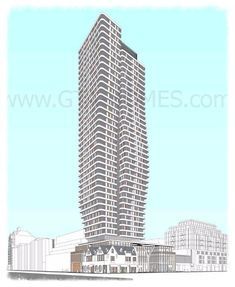 33 Avenue Road Condos is a 40 storey building with 330 residential units with commercial use at 33-45 Avenue Road and 140-148 Yorkville Avenue in Toronto.